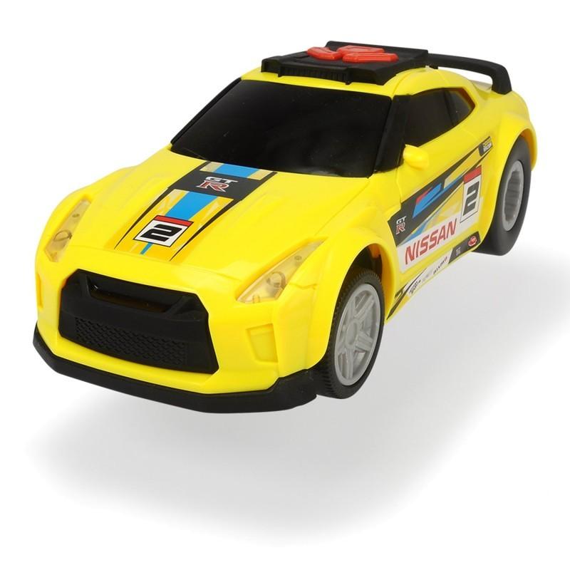 Купить Рейсинговый автомобиль - Nissan GTR, моторизированный, свет, звук, 25, 5 см, Dickie Toys