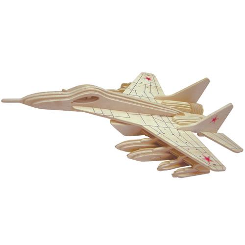 Сборная деревянная модель - Истребитель МиГ-29Пазлы объёмные 3D<br>Сборная деревянная модель - Истребитель МиГ-29<br>