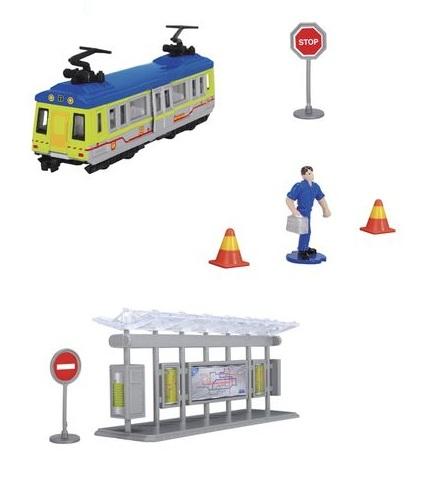 Игровой набор «Трамвайная остановка»Автобусы, трамваи<br>Игровой набор «Трамвайная остановка»<br>