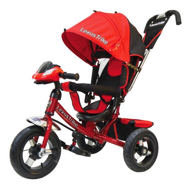 Велосипед 3-х колесный с ручкой управления - Lexus Trike, красный, светомузыкальная панель, надувные колеса диаметром 30 и 25 смВелосипеды детские<br>Велосипед 3-х колесный с ручкой управления - Lexus Trike, красный, светомузыкальная панель, надувные колеса диаметром 30 и 25 см<br>