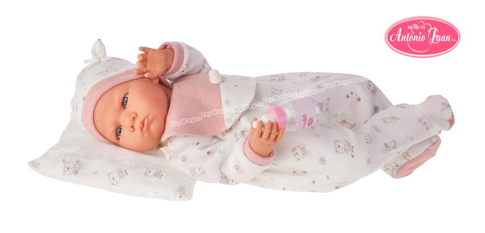 Кукла Бертина в розовом, озвученная, 52 см.Куклы Антонио Хуан (Antonio Juan Munecas)<br>Кукла Бертина в розовом, озвученная, 52 см.<br>