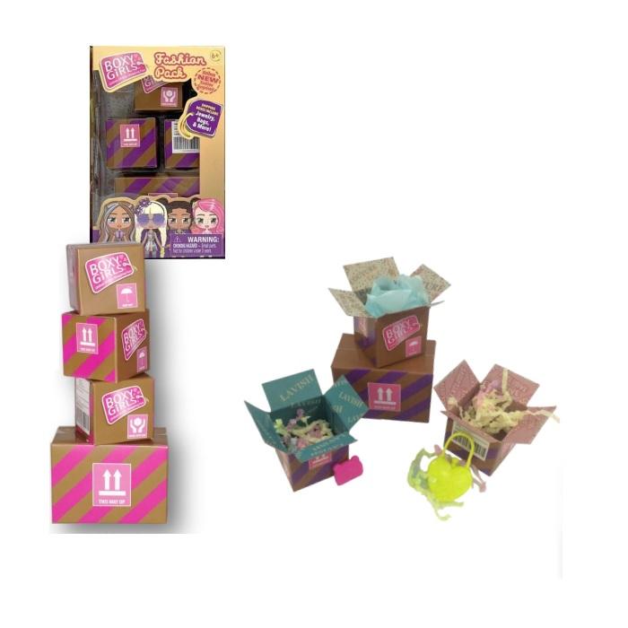 Купить Игровой набор из 4 посылок с сюрпризами для кукол Boxy Girls, 1TOY
