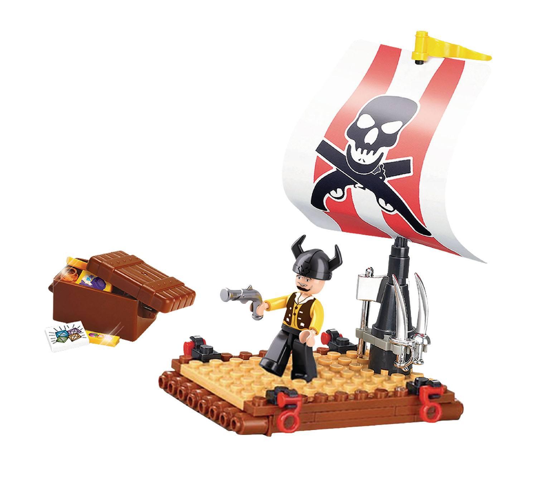 Конструктор – Пират: плот с фигуркой 64 детали.