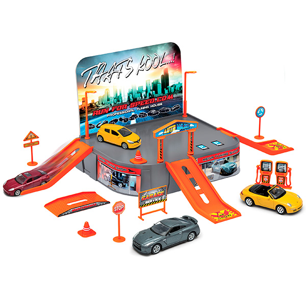 Игровой набор - Гараж, с 1 машинкойДетские парковки и гаражи<br>Игровой набор - Гараж, с 1 машинкой<br>
