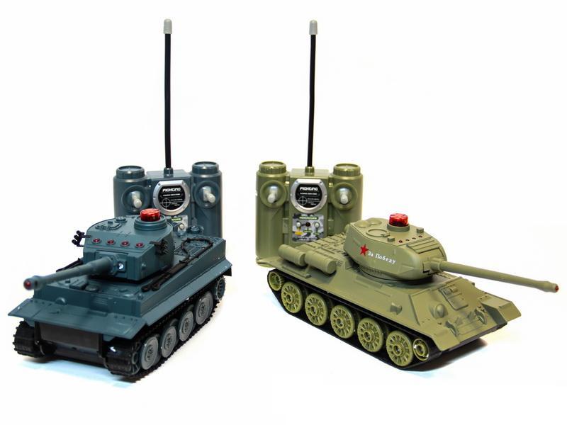 Танковый бой, звуковые и световые эффекты, с зарядным устройствомРадиоуправляемые танки<br>Танковый бой, звуковые и световые эффекты, с зарядным устройством<br>