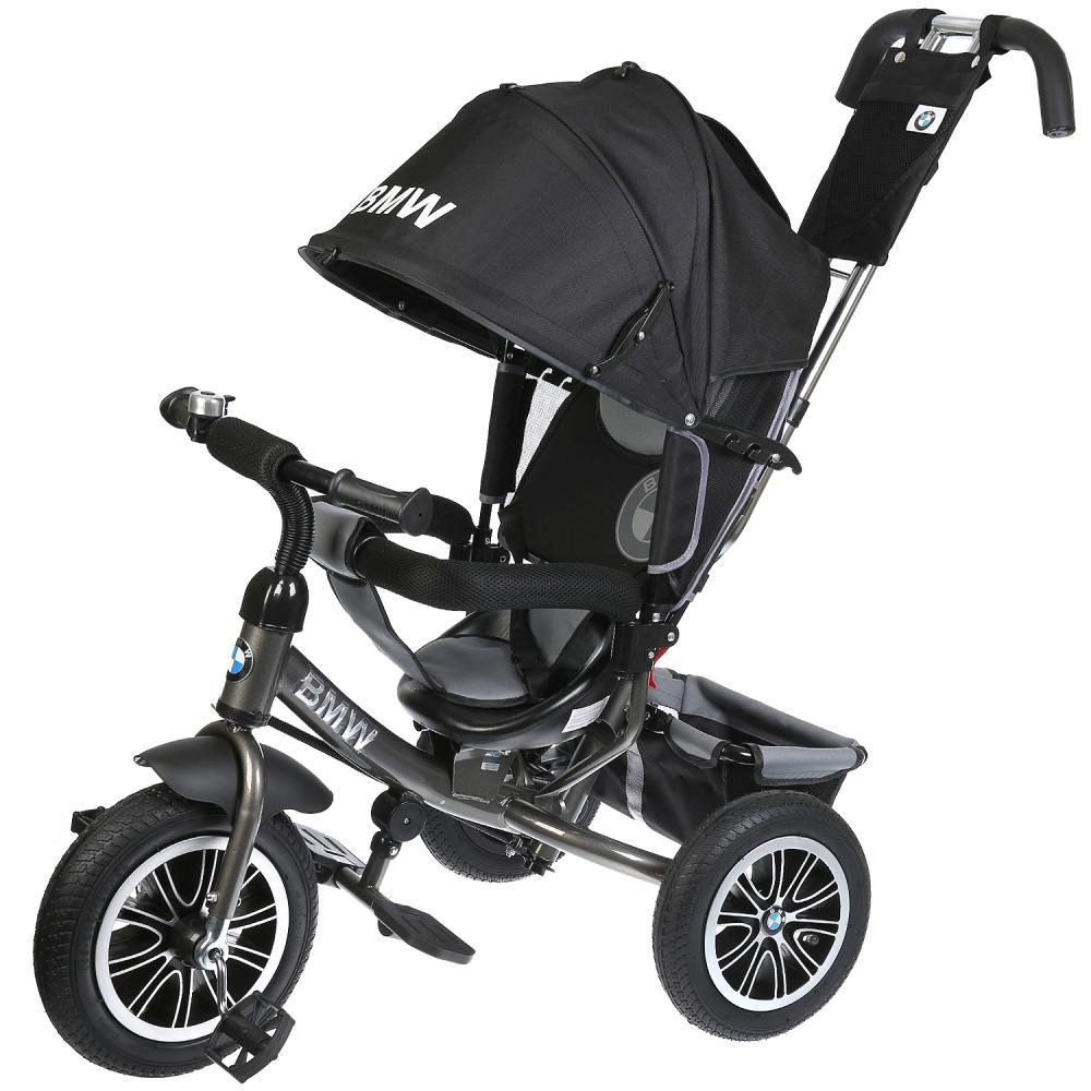 Велосипед 3 колесный – BMW, цвет черный надувные колеса 12 и 10 дюйм