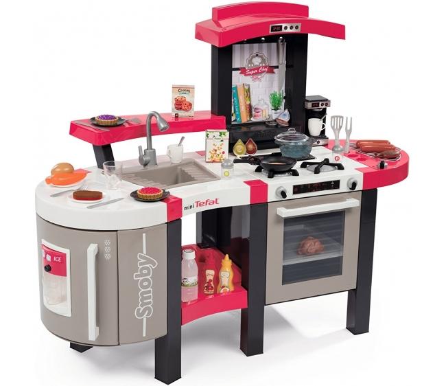Кухня с пузырьками - Smoby Super Chef Deluxe, 46 аксессуаров, звукДетские игровые кухни<br>Кухня с пузырьками - Smoby Super Chef Deluxe, 46 аксессуаров, звук<br>