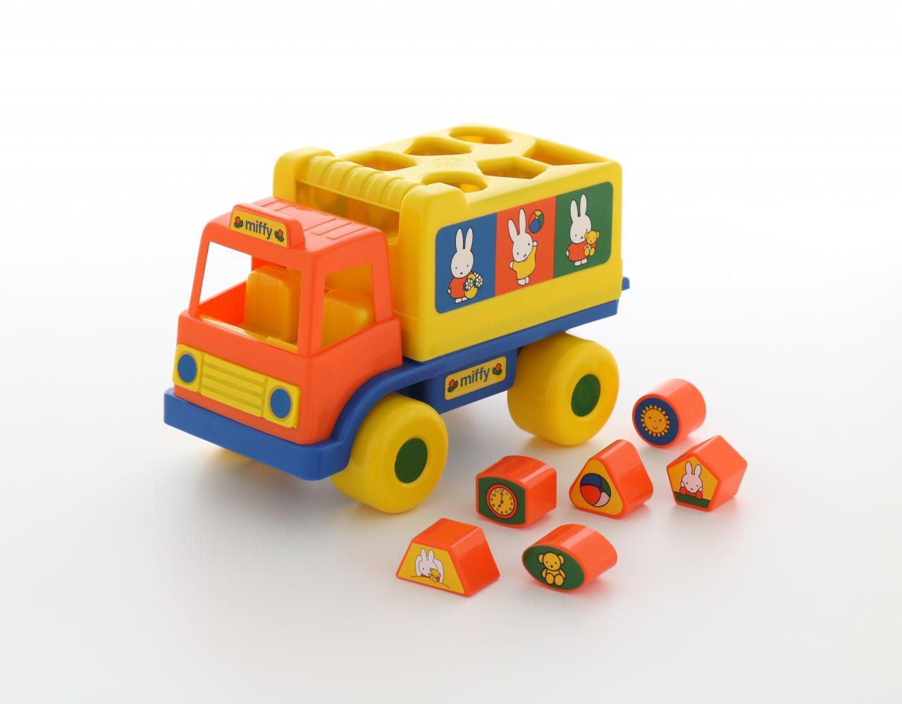 Купить Логический грузовичок №2 – Миффи с 6 кубиками, Полесье