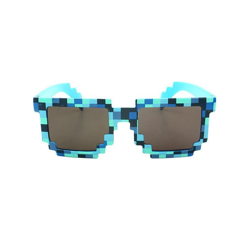 Купить Очки пиксельные синие из серии Майнкрафт, Upixel