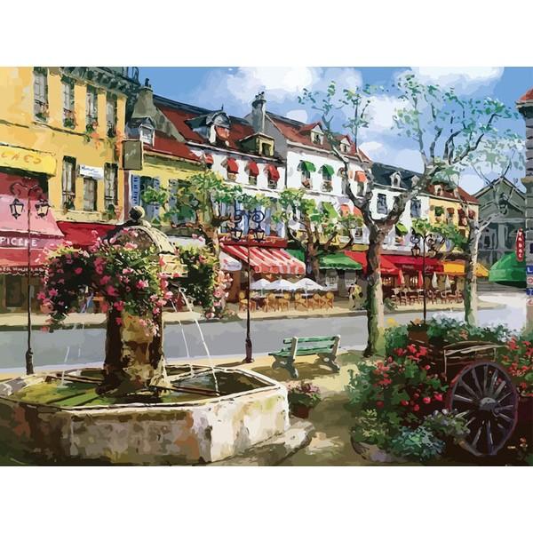 Раскраски по номерам - Картина «Европейский городок»Раскраски по номерам Schipper<br>Раскраски по номерам - Картина «Европейский городок»<br>