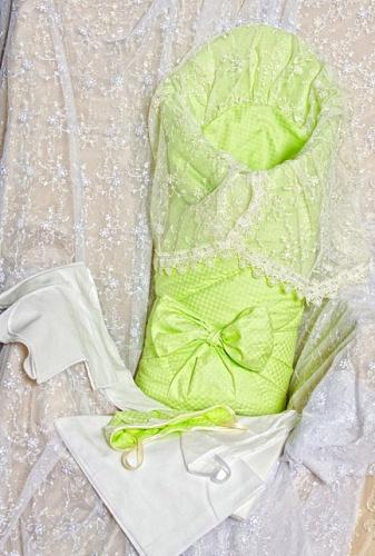 Комплект на выписку Asselina – Радуга, зеленый, весна