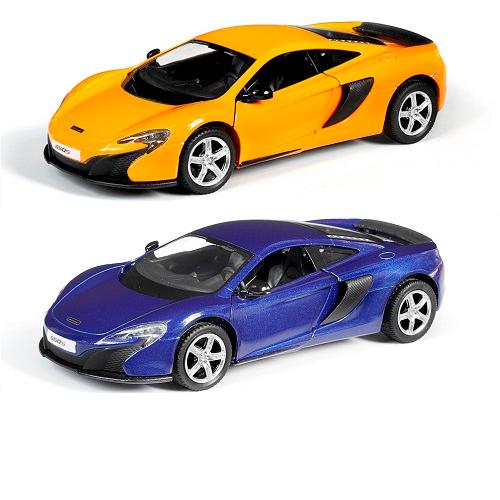 Металлическая инерционная машина RMZ City - McLaren 650S, 1:32, 2 цветаКоллекционные модели машин Welly<br>Металлическая инерционная машина RMZ City - McLaren 650S, 1:32, 2 цвета<br>