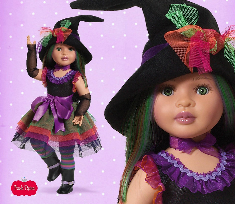 Кукла Paola Reina Ведьмочка Abigal, 60 см, шарнирнаяКуклы и пупсы<br>Кукла Paola Reina Ведьмочка Abigal, 60 см, шарнирная<br>