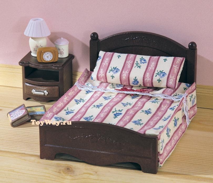 Набор Большая кровать и тумбочкаМебель<br>Набор Большая кровать и тумбочка<br>