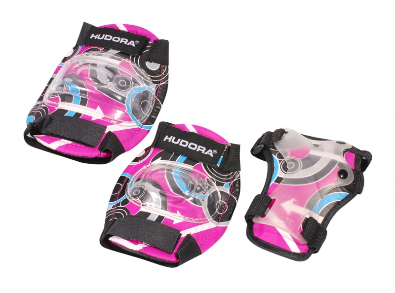 Купить Комплект защиты Pink Style girl, размер S, цвет - pink/розовый, Hudora