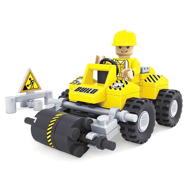 Конструктор Городские строители. Дорожный мини каток, 54 деталиКонструкторы других производителей<br>Конструктор Городские строители. Дорожный мини каток, 54 детали<br>