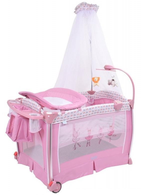 Детская кровать-манеж Nuovita Fortezza, цвет - Rosa / РозовыйМанежи<br>Детская кровать-манеж Nuovita Fortezza, цвет - Rosa / Розовый<br>