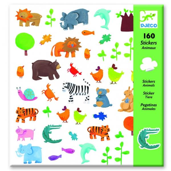 картинка Набор из 160 наклеек – Животные от магазина Bebikam.ru