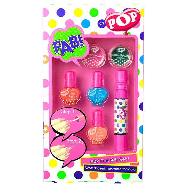 Набор детской декоративной косметики для ногтей из серии PopЮная модница, салон красоты<br>Набор детской декоративной косметики для ногтей из серии Pop<br>