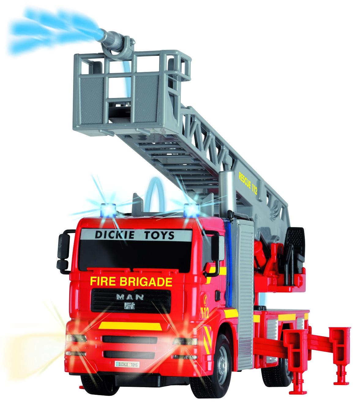 Купить City Fire Engine пожарная машина, свет + звук, брызгает водой, 25 см., Dickie Toys