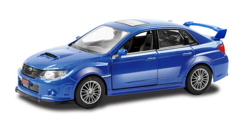 Купить Металлическая инерционная машина - Subaru WRX STI, 1:32, синий, RMZ City