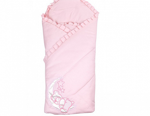 Конверт-одеяло на выписку М-2023, розовыйКомплекты на выписку<br>Конверт-одеяло на выписку М-2023, розовый<br>
