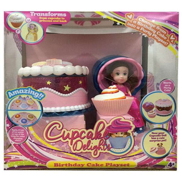 Купить Набор Cupcake Surprise - Чайная вечеринка, с куклой капкейк и питомцем, Emco