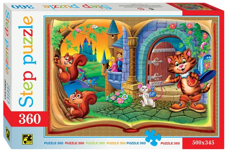 Купить Пазл Кот в сапогах, 360 элементов, Step Puzzle