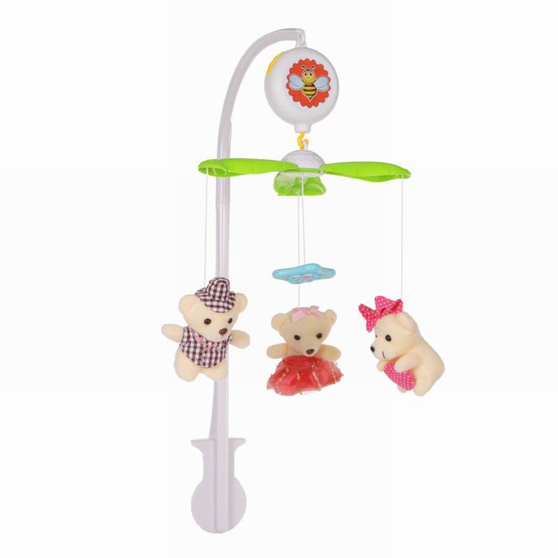 Мобиль на кроватку М6611B-4 – Мишки, с мягкими игрушками - Мобили и музыкальные карусели на кроватку, игрушки для сна, артикул: 166290