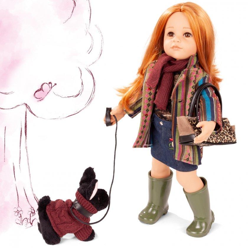 Купить Кукла – Ханна. Прогулка с собачкой, 50 см, Gotz