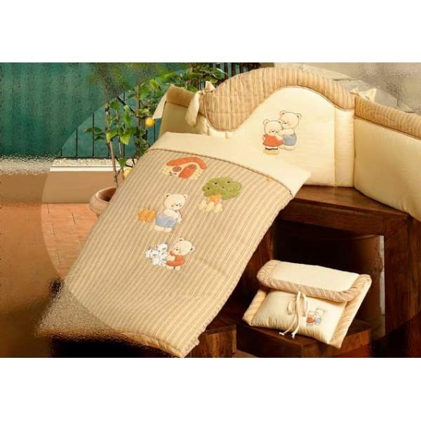 Комплект для кроватки: мягкий бортик и одеяльце из коллекции 4 времени года – Биба