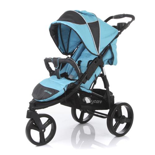 Коляска прогулочная Jogger Cruze, blueДетские коляски Capella Jetem, Baby Care<br>Коляска прогулочная Jogger Cruze, blue<br>