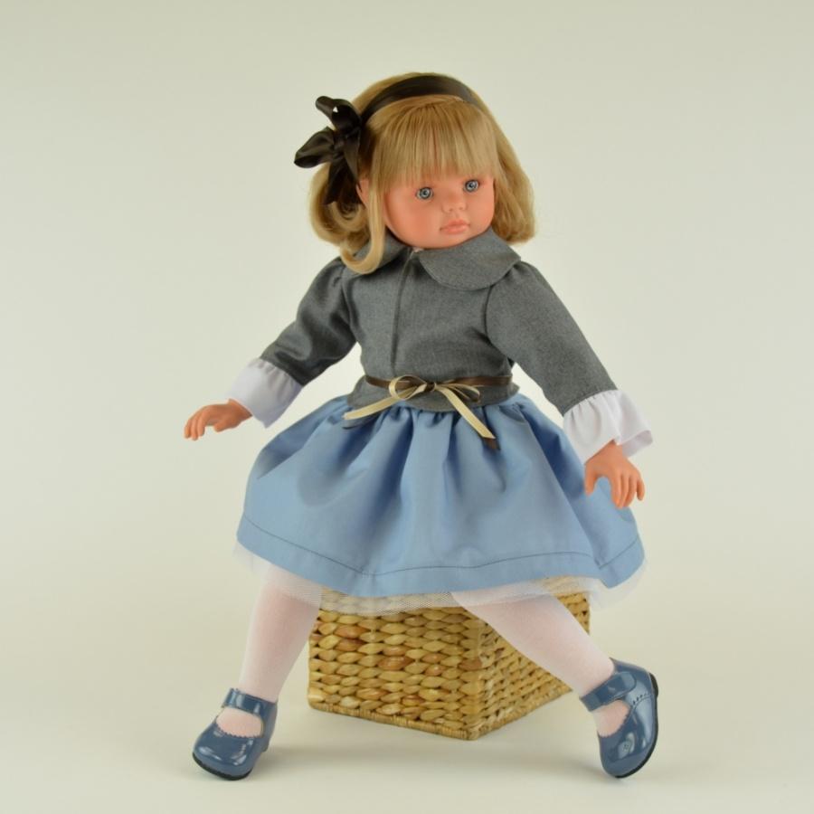 Кукла Пепа в сером пиджачке, 60 см.Куклы ASI (Испания)<br>Кукла Пепа в сером пиджачке, 60 см.<br>