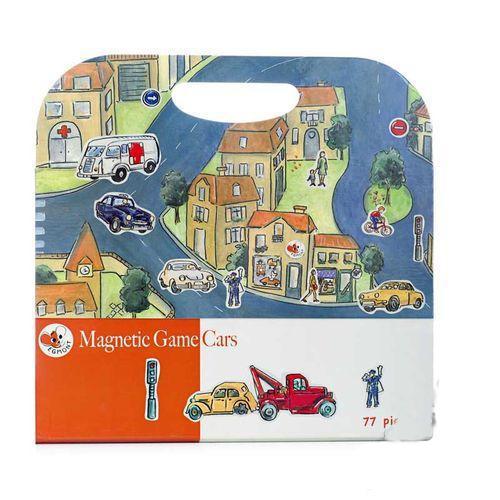 Купить Магнитная игра – Машинки, 77 деталей, Egmont