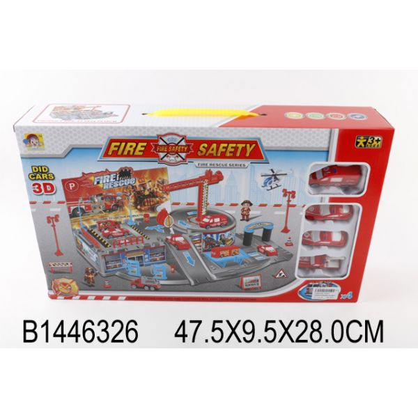 Игровой набор – Пожарная охрана с 4 машинками и аксессуарамиДетские парковки и гаражи<br>Игровой набор – Пожарная охрана с 4 машинками и аксессуарами<br>