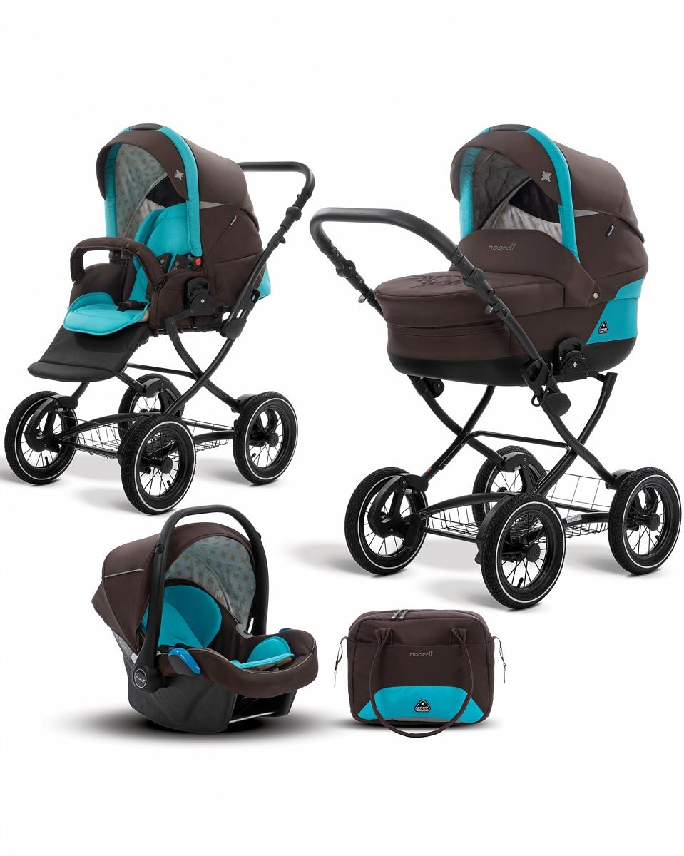 Коляска детская Noordi Polaris CL 3/1, коричневая с голубымДетские коляски 3 в 1<br>Коляска детская Noordi Polaris CL 3/1, коричневая с голубым<br>