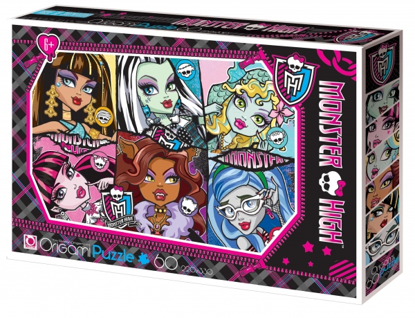 Пазл «Monster High» 60A.Куклы Ever After High и Monster High<br>Пазл «Monster High» 60A.<br>