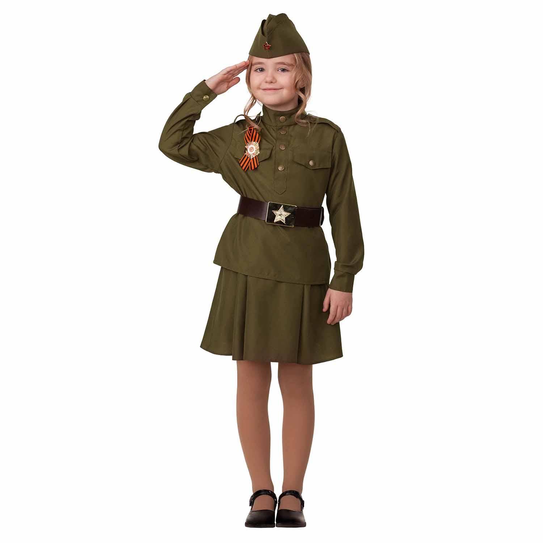 Костюм для девочек – Солдатка, размер 140-72 Батик