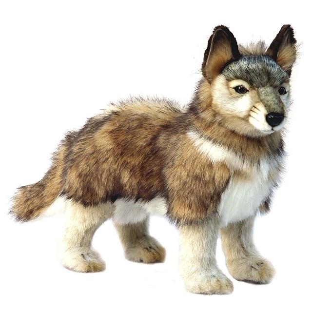 Купить Волчонок серый, стоящий, 44 см, Hansa