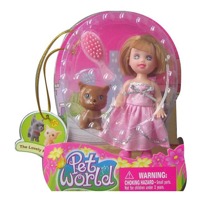 Купить Кукла Defa с питомцем - Мир любимых животных, 16 см., Defa Lucy