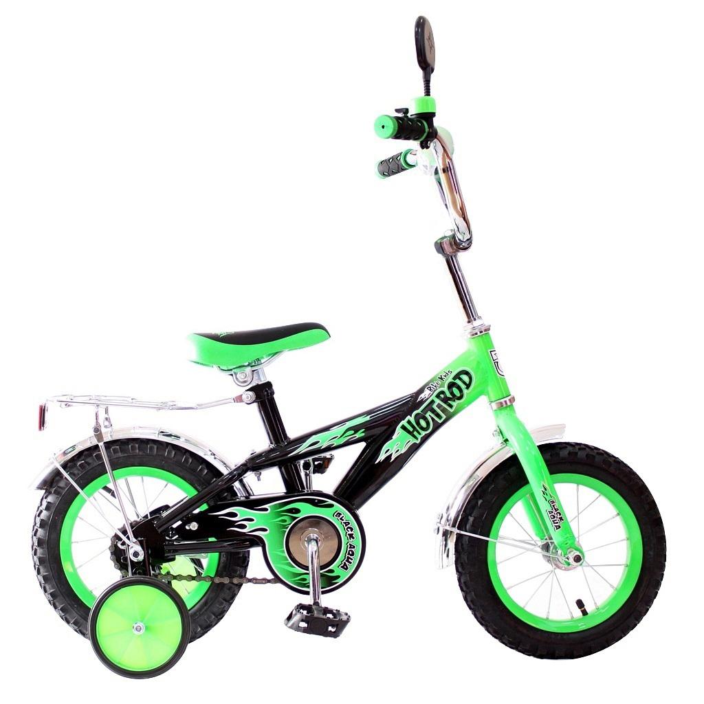 Двухколесный велосипед Hot-Rod, диаметр колес 12 дюймов, зеленыйВелосипеды детские<br>Двухколесный велосипед Hot-Rod, диаметр колес 12 дюймов, зеленый<br>
