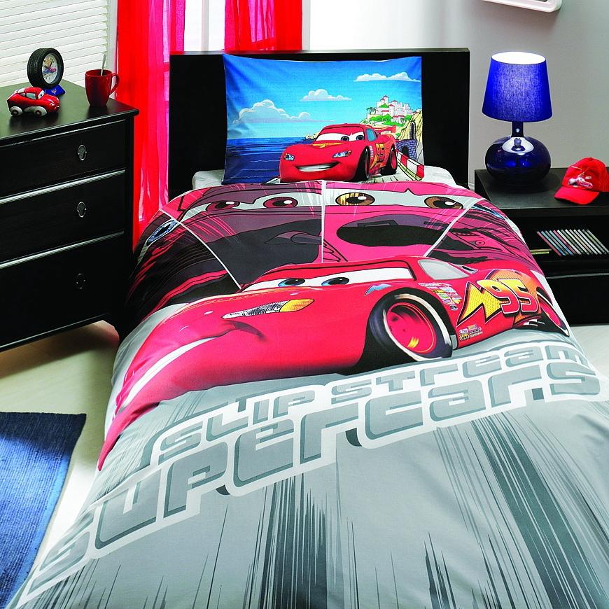 Детский комплект белья Disney Cars Face Movie, 3-12 летCARS 3 (Игрушки Тачки 3)<br>Детский комплект белья Disney Cars Face Movie, 3-12 лет<br>