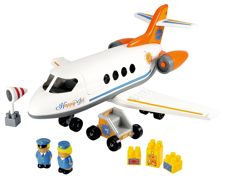 Конструктор – Самолет с фигурками и грузом, 30 предметов - Самолеты, службы спасения, артикул: 153985
