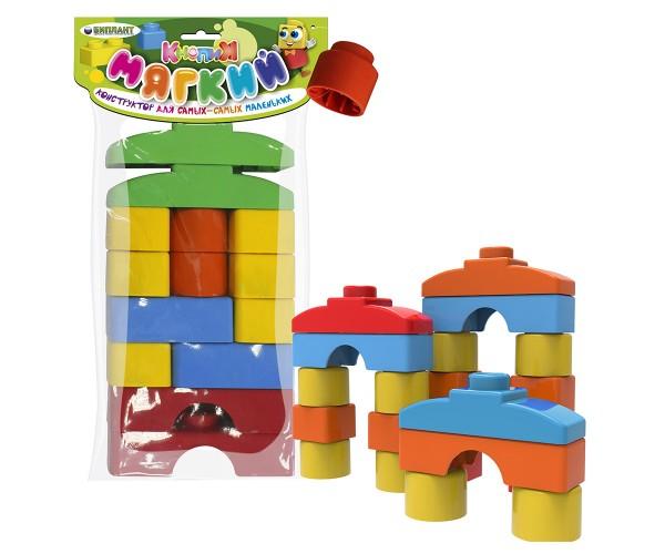 Конструктор мягкий для малышей, 14 деталей, в пакетеКонструкторы других производителей<br>Конструктор мягкий для малышей, 14 деталей, в пакете<br>