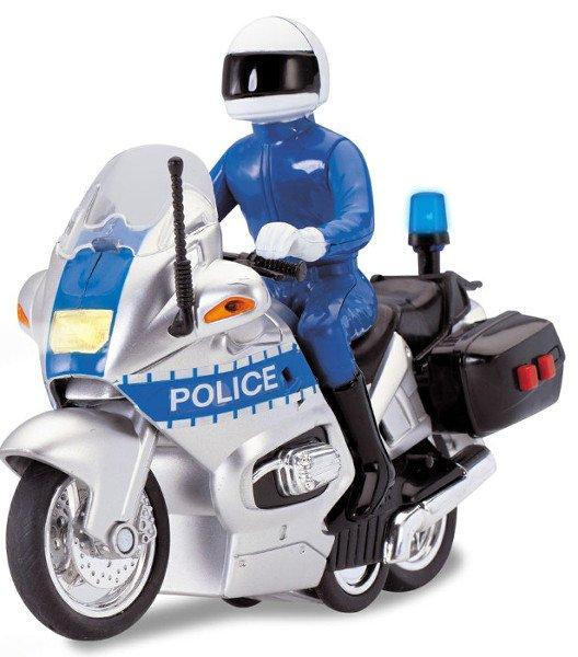 Полицейский мотоцикл, фрикционный, свет, звук, 15 см.Полицейские машины<br>Полицейский мотоцикл, фрикционный, свет, звук, 15 см.<br>