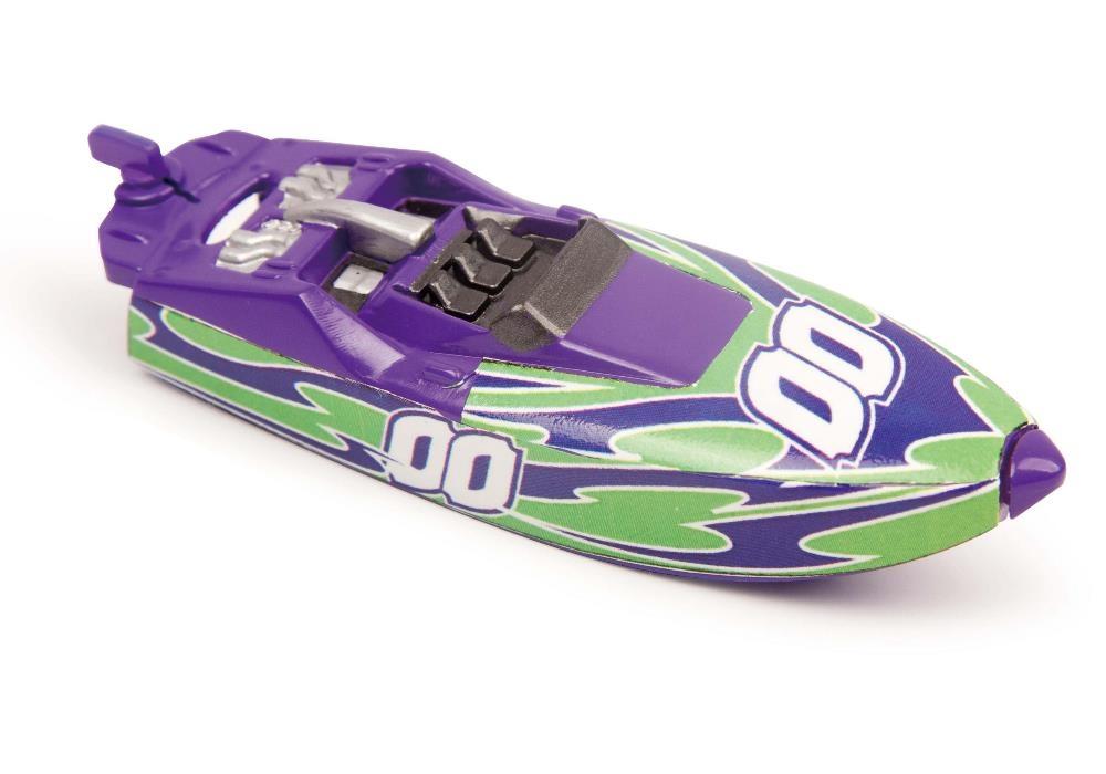 Роболодка Micro Boats, пурпурно-зеленая от Toyway