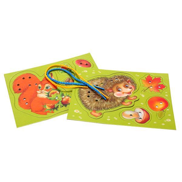 Купить Настольная игра-шнуровка – Ежик, Умка