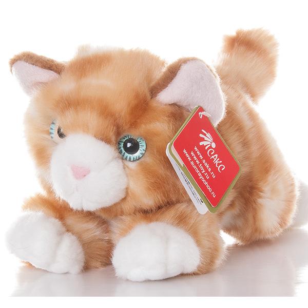 Купить Игрушка мягкая - Котик рыжий, 22 см., Aurora