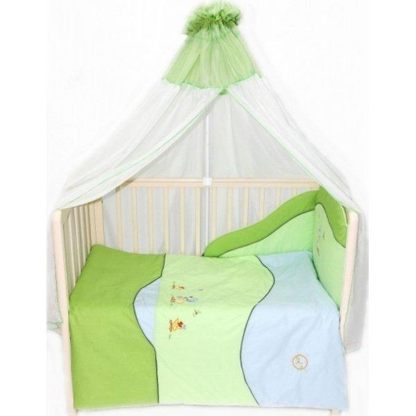 Комплект в кроватку – Кря Кря, 7 предметовДетское постельное белье<br>Комплект в кроватку – Кря Кря, 7 предметов<br>