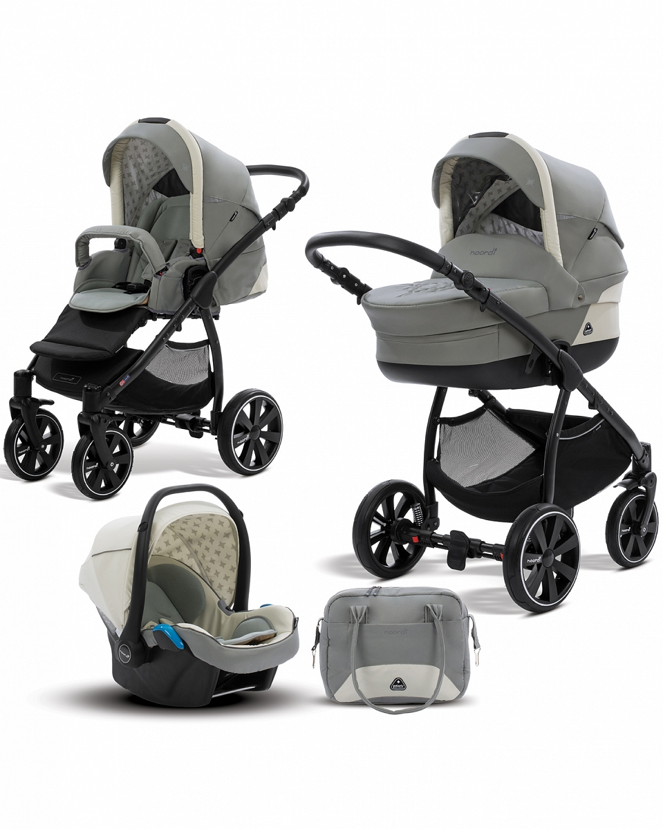 Коляска детская Noordi Polaris SP 3 в 1, сераяДетские коляски 3 в 1<br>Коляска детская Noordi Polaris SP 3 в 1, серая<br>